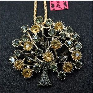 Betsey Johnson Rhinestones Tree Necklace 🍂🆕🍂